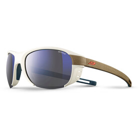 Julbo Regatta Octopus Lunettes de soleil, white/light brown-multilayer blue